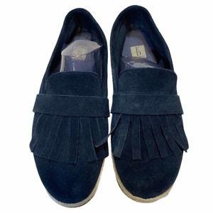 Ellen Degeneres Love Navy Suede Slip On Loafers